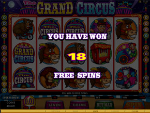 The Grand Circus Free Spins