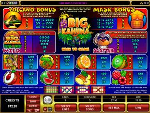 Big Kahuna Slots Payout